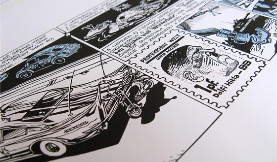 Ukázka z restaurovaného komiksu Káji Saudka