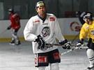 Petr Nedvěd na tréninku libereckých hokejistů.