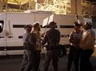 Policie před vězením Ayalon zastavila izraelské pravicové aktivisty.