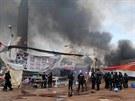 Zprávy o počtu obětí zásahu se výrazně rozcházejí. Islamistické Muslimské...
