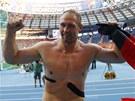 NĚMECKÝ OBR. Diskař Robert Harting se v Moskvě stal potřetí za sebou mistrem