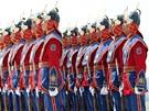 Čestná stráž mongolské armády během cvičení Khaan Quest