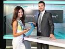 Moderátorská dvojice televize Prima Monika Leová a Tomáš Drahoňovský