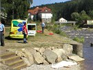 Při koupání ve Vltavě v Loučovicích se utopili dva muži.