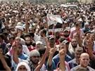 """Protestní akce """"Pátek hněvu""""  v Káhiře (16. srpna 2013)"""