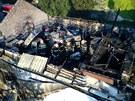 Požár výrobny rozvaděčů v Markovicích
