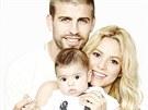 Šťastná rodinka - zpěvačka Shakira, fotbalista Gerarda Piqué a jejich syn Milan