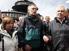 Prezident Miloš Zeman dorazil na Sněžku s manželkou Ivanou a tajemníkem...