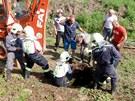 Přivolaní hasiči s pomocí kladkostroje krávu ze studny vytáhli. Ještě předtím