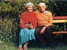 Vědec a jeden z průkopníků makromolekulární chemie Otto Wichterle s manželkou