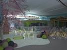 Vizualizace části interiéru Zábavného parku Krokodýlek, který už vzniká v