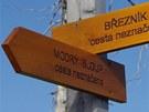 Nynější cesta z Březníku na Modrý sloup