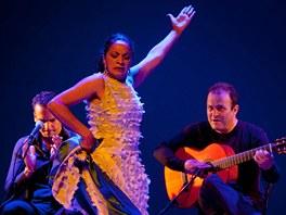 Tanečnice Carmen Cortésová, s kytarou Gerard Núnez