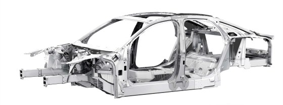Audi A8 kostra