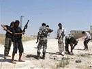 Rebelové se připravují k útoku ve městě Aleppo (29. srpna 2013)