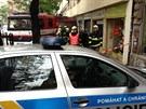 Neznámý muž přepadl prodejnu s kosmetikou v Ječné ulici v Praze (26.8.2013)