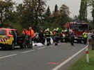 Tragická nehoda se třemi oběťmi u Jesenice nedaleko Prahy.