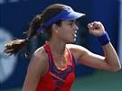 JSEM TAM. Ana Ivanovičová slaví postup do 3. kola tenisového US Open.