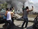 V�buchy dvou n�lo�� v severolibanonsk�m p��stavn�m m�st� Tripolisu zabily nebo...