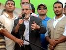 L�dr Muslimsk�ho bratrstva Muhammad Bad� hovo�� k shrom�d�n�m dav�m v K�hi�e...