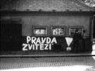 Nápis ze srpna 1968 v Hlinsku.