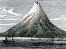 Před výbuchy v srpnu 1883 měla Krakatoa tvar homole.