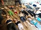I tento snímek zveřejněný syrskou agenturou je považován za potvrzený....