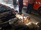 O den později (22. srpna 2013) agentury zveřejnily fotografii mrtvol z místa...
