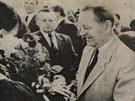 Generální tajemník ÚV KSČ Milouš Jakeš byl častým hostem Země živitelky.