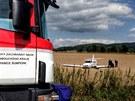 Nehoda malého dopravního letadla u Vikýřovic na Šumpersku. Lehce se zranil...