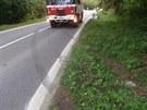 Řidič Range Roveru dostal ve vysoké rychlosti smyk a v protisměru srazil...