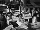 Žáci jedné ze zlínských škol v roce 1938.