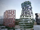 Model developerského projektu v Číně, který budou kromě hotelu tvořit i