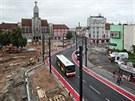 Rekonstrukce náměstí 28. října a Dukelské třídy v Hradci Králové se blíží k...