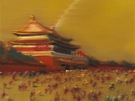 Yin Zhaoyang, Náměstí, olej na plátně, 2009