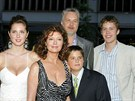 Susan Sarandonová a Tim Robbins s dětmi (23. června 2005)