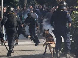 St�ety v ulic�ch Ostravy trvaly asi dv� hodiny. (24. srpna 2013)