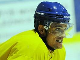 Miloslav Čermák na tréninku hokejistů Litoměřic