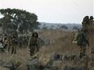 Izraelští vojáci se účastní cvičení v Golanských výšinách (30. srpna 2013)