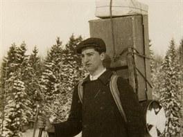 Helmut Hofer se živil jako nosič pro Českou boudu na Sněžce od svých 15 do 20...