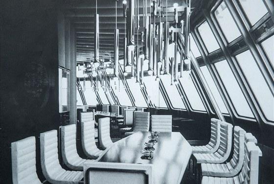 Salonek hotelu Ještěd v roce 1973