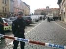 Zásah policie proti squaterům na pražském Pohořelci (1. září 2013)