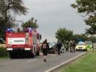 Při dopravní nehodě dvou osobních a jednoho nákladního auta v pondělí odpoledne...