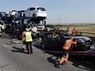 Podle místní policie osm lidí utrpělo vážná zranění (5. září)