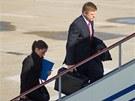 Slovenský premiér Robert Fico se svojí asistentkou Janou Halaszovou.