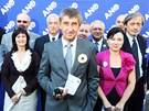 Andrej Babi� p�edstavil volebn� l�dry hnut� ANO. (6. z��� 2013)