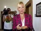 Na soudní jednání dorazila i Petra Paroubková, manželka bývalého premiéra za...