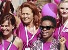 Boj proti rakovin� prsu p�i�la podpo�it tak� fitness tren�rka Olga ��pkov�,...