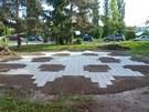 Labyrint ve tvaru hv�zdy, p�edstavuje spojen� mezi nebem a zem�. �lov�k, kter�