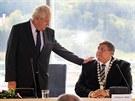 LIDOVCI CHYBĚLI. Prezident diskutoval s krajskými zastupiteli, o setkání však...